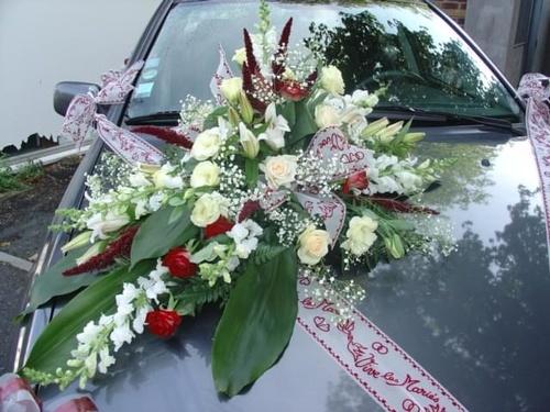 D coration voiture mariage mariage fleuriste - Prix decoration voiture mariage fleuriste ...